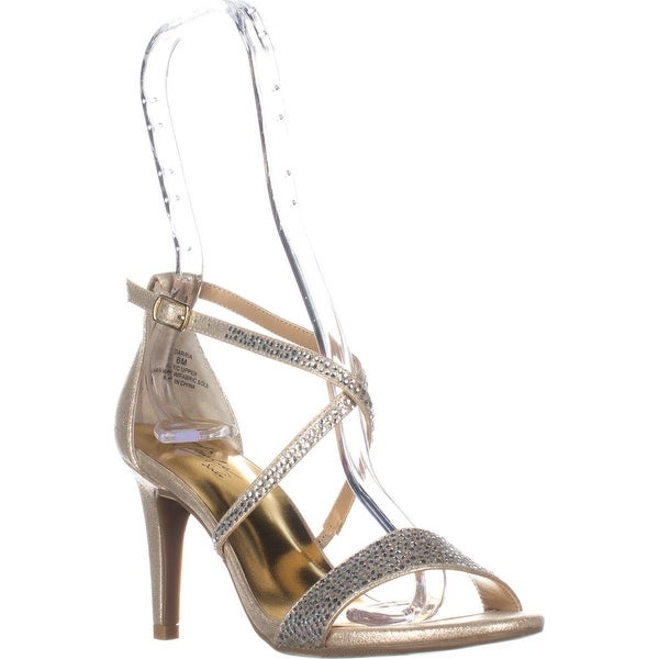 TS35 Darria Cross Strap Evening Sandals, Champagne