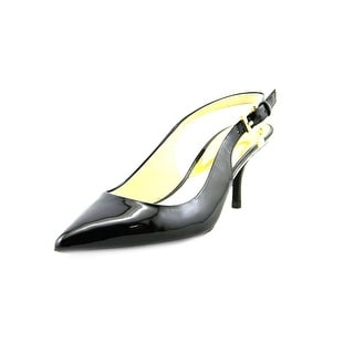 Michael Michael Kors Kelsey Kitten Sling Women Pointed Toe Black Slingback Heel