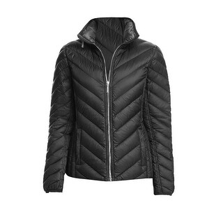 Michael Michael Kors Black Chevron Hidden Hood Packable