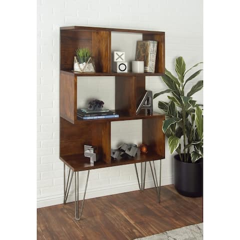 Brown Wood Modern Shelving Unit 61 x 32 x 13 - 32 x 13 x 61