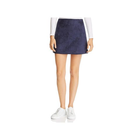 French Connection Womens Mini Skirt Faux Suede Mini