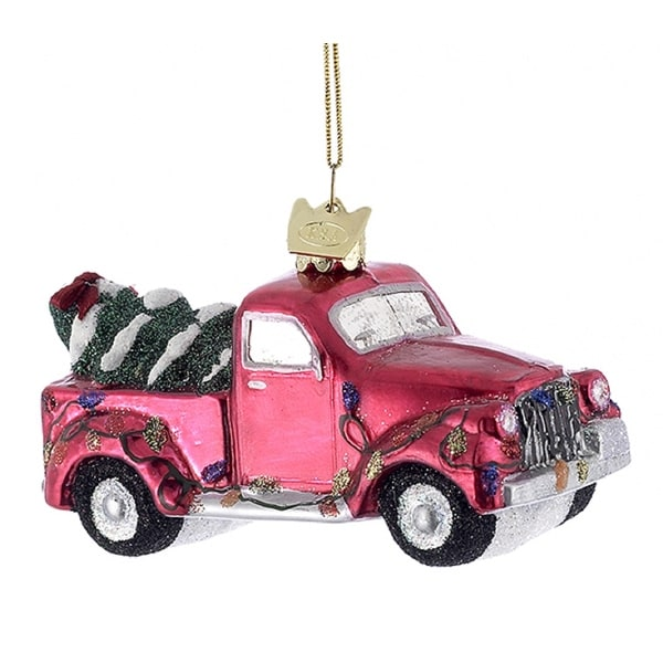 Free Christmas Tree Pick Up: Shop Kurt Adler Noble Gems Red Pickup Truck With Tree