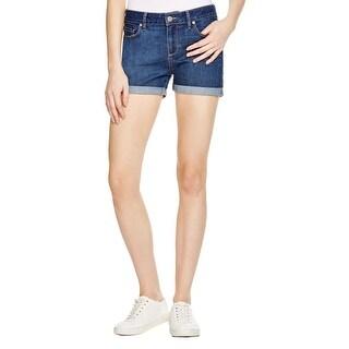 Paige Womens Denim Shorts Cuffed Medium Wash