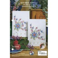 "Serenade - Stamped Kitchen Towels For Embroidery 17""X30"" 2/Pkg"