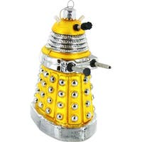 "5"" Doctor Who Yellow Dalek Figural Ornament"