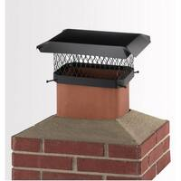 "Hy-C SC913 Black Chimney Cap with Tab Screw, 9"" x 13"""