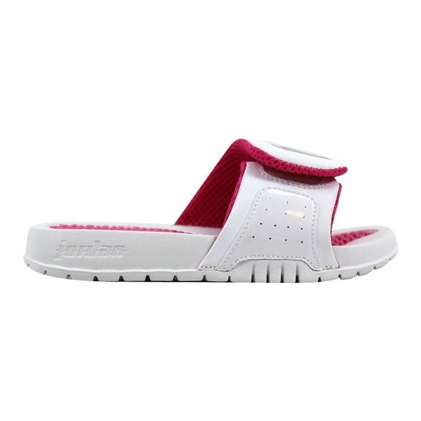 newest 7c502 af89c Shop Nike Pre-School Air Jordan Hydro White/Vivid Pink ...