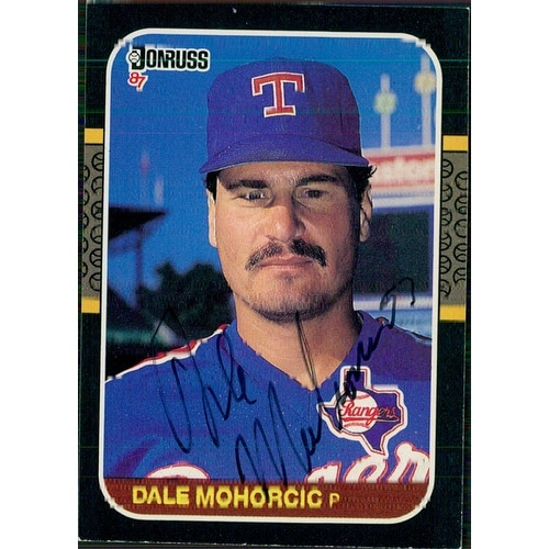 Signed Mohorcic Dale Texas Rangers 1987 Donruss Baseball Card Autographed