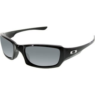 Oakley Men's Polarized Fives Squared OO9238-06 Black Rectangle Sunglasses