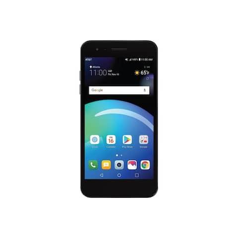 AT&T Prepaid - LG Phoenix 4 with 16GB Memory Prepaid Cell Phone - Titan Black