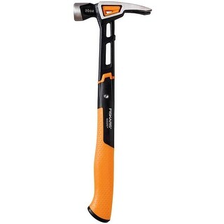"Fiskars 750230-1001 IsoCore Claw Hammer, 15.5"""