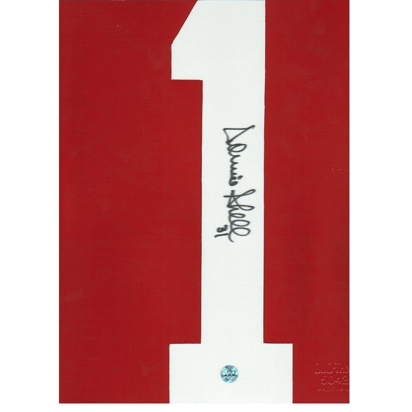 1cadb842433 Shop Donnie Shell Pittsburgh Steelers Autographed White #1. This item is an autographed  Jersey Number with no matting or backing. - Free Shipping On Orders ...