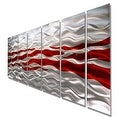 Statements2000 Red / Silver Modern Abstract Metal Wall Art Painting by Jon Allen - Caliente - Thumbnail 5