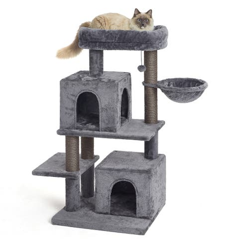 45 Inches Multi-Level Cat Tree Condo for Large Cats