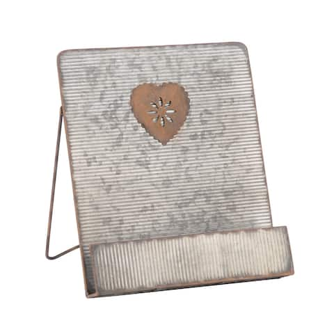 Galvanized Heart Cookbook Stand