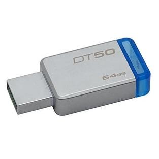 Kingston Dt50/64Gb 64Gb Datatraveler Dt50 Usb 3.0 Flash Drive (Blue)