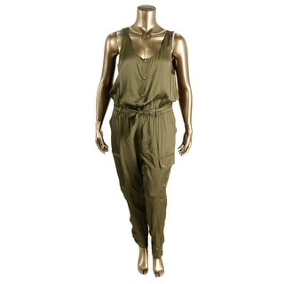Lauren Ralph Lauren Womens Shimmer Sleeveless Jumpsuit - 2