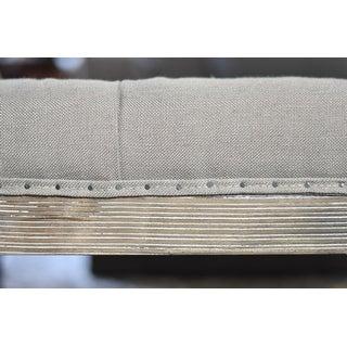 The Gray Barn Creston Beige Linen Tufted Ottoman