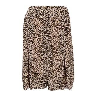 Anne Klein Women's Animal Print Skirt (8, Wet Sand Combo)