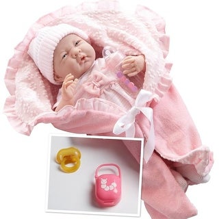 La Newborn 18780 Soft Body Baby Doll Bunting & Accessories