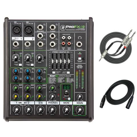 Mackie ProFX4v2 4-Channel Effects Mixer with XLR and Breakout Cable