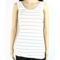 H By Bordeaux NEW White Ivory Women's Size Medium PM Petite Knit Top