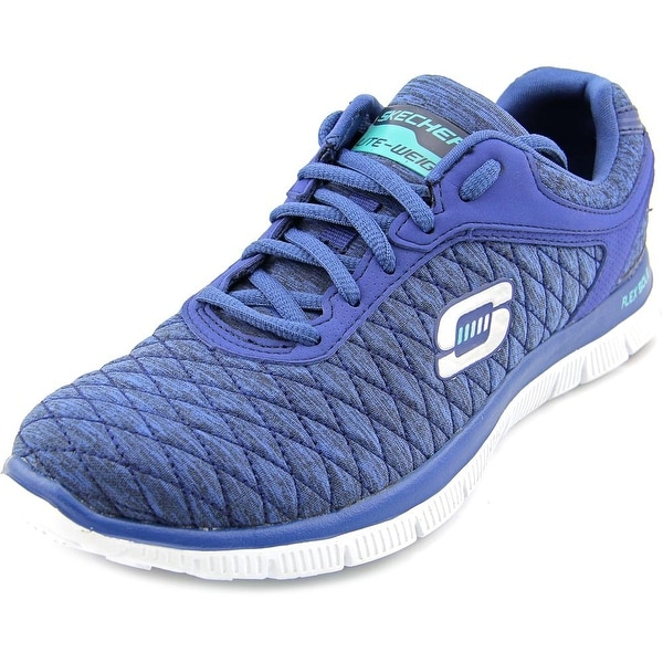 Skechers Flex Appeal - Eye Catcher Women Round Toe Canvas Blue Running Shoe