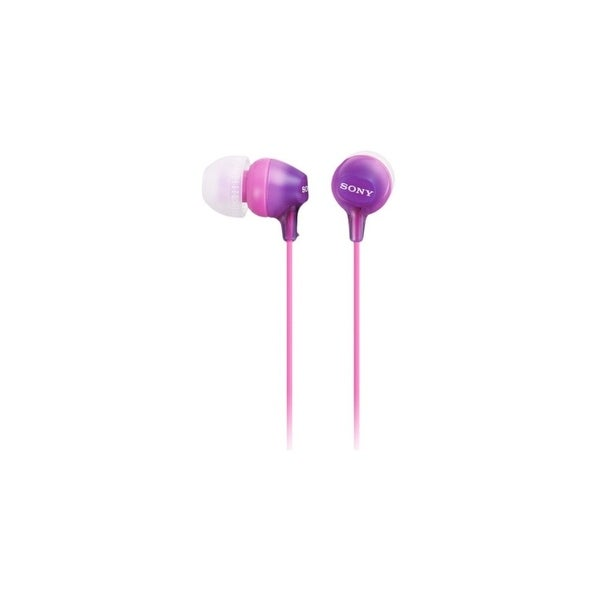 Sony MDREX15AP/V Sony Fashion Color EX Earbud Headset - Stereo - Violet - Mini-phone - Wired - 16 Ohm - 8 Hz - 22 kHz - Gold