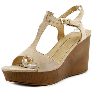 New Directions Aerial   Open Toe Synthetic  Wedge Sandal