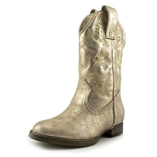 Volatile Kids Chateau Toddler Round Toe Synthetic Gold Western Boot