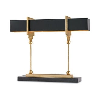 Currey and Company 6994 Apropos 4 Light Accent Table Lamp - gold leaf