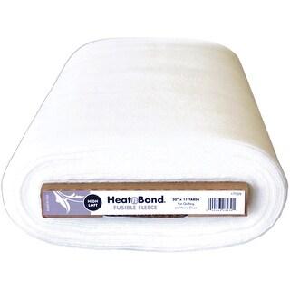 "Heat'n Bond Extra High Loft Fleece Fusible-White 20""X11yd FOB: MI"