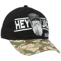 Duck Dynasty Mens Camouflage Adjustable Hat with Stitched Imperfections