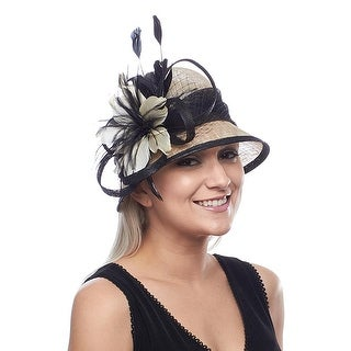 Rocking Roxie Sinamay Derby Cloche with Feather Flower