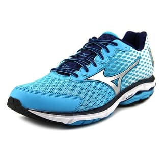 Mizuno Wave Rider 18 Women Round Toe Synthetic Blue Running Shoe|https://ak1.ostkcdn.com/images/products/is/images/direct/0f78a8f32efe61186132b32203e5e20e16a7f99d/Mizuno-Wave-Rider-18-Round-Toe-Synthetic-Running-Shoe.jpg?impolicy=medium
