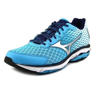 Mizuno Wave Rider 18 Women Round Toe Synthetic Blue Running Shoe