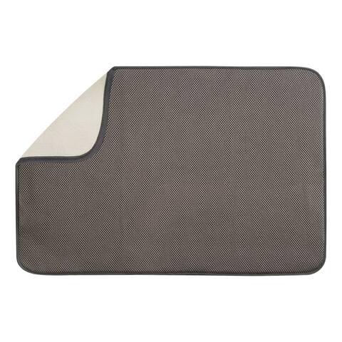 InterDesign 40231 Microfiber Drying Mat, X-Large, Mocha