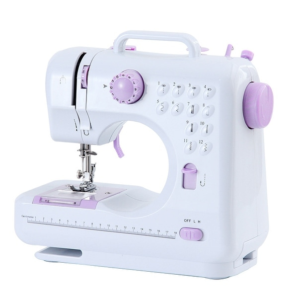 Portable Mini Sewing Machine 12 Stitches 2 Speeds Double Thread Overlock Quick Sewing Machine Household Sewing. Opens flyout.