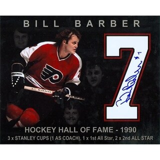Bill Barber Autographed 8 x 10 Photo Philadelphia Flyers - Special