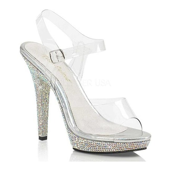 b78e0b264c Shop Fabulicious Women's Lip 108DM Ankle Strap Sandal Clear PVC/Silver  Multi Rhinestone - On Sale - Free Shipping Today - Overstock - 14658007