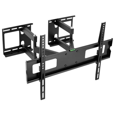 Mount-It! Corner TV Wall Mount Full Motion Fits 37-65 Inch TVs - Black