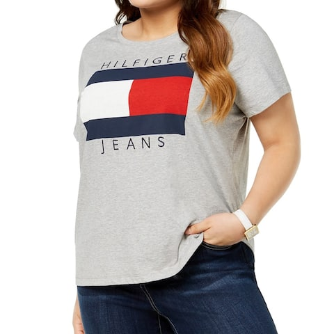 Tommy Hilfiger Women's Top Plus Boyfriend % Cotton