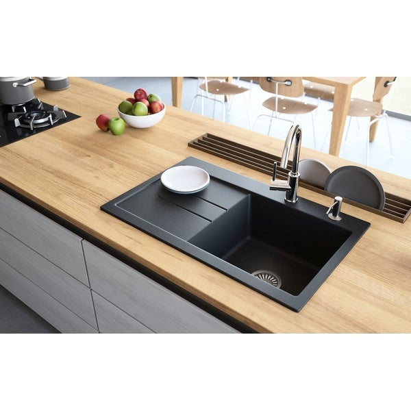 "Shop Lavello Granite Composite 31"" Drop in with Drainboard ..."