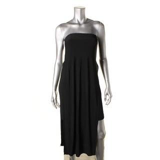 Helmut Lang Womens Strapless Mid-Calf Casual Dress