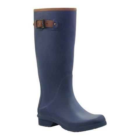 Chooka Women's City Solid Tall Rain Boot Navy