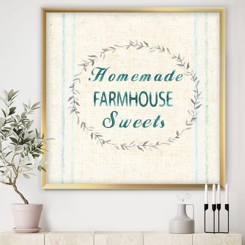 Designart 'Farmhouse Florals VIII' Farmhouse Premium Framed Art Print