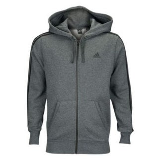 Adidas Men's Essentials Full-Zip Brushed Fleece Hoodie Color Choice CF5056