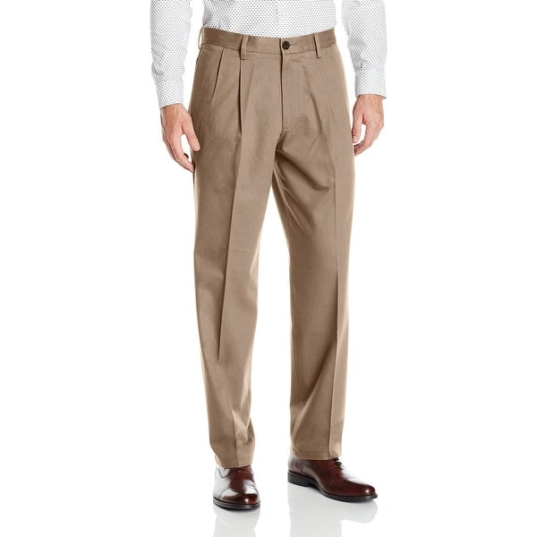 Dockers Mens Khaki Pants Beige Size 42x30 Classic Fit Pleated Stretch. Opens flyout.