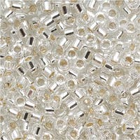 Miyuki Delica Seed Beads 11/0 'Silver Lined Crystal' DB041 7.2 GR
