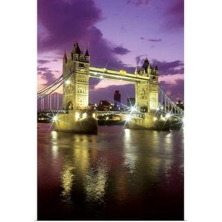 """Tower Bridge at night, London, England"" Poster Print"